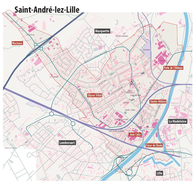 SAint André plan vectoriel